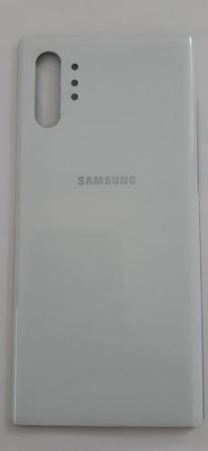 Tampa Traseira Galaxy Note 10 N975 Plus Branc Vidro 100% Nov