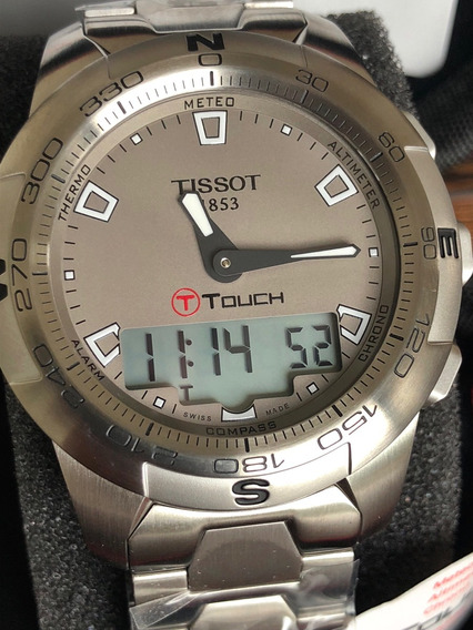 Relógio Tissot T-touch 2 Rhodium - Novo Com Garantia