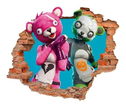 Imagen 1 de 6 de Vinilo Decorativo Fortnite -i31 Sticker Efecto Muro Roto