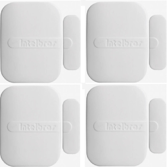 04 Xas 4010 Smart - Sensor De Abertura Sem Fio Intelbras