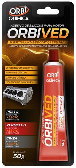 Adesivo Orbived Selante Motor (acético) Vermelho - Or 2