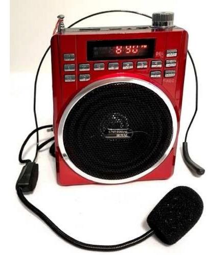 Megafono Altavoz Perifoneo Radio Usb Bluetooth Sd Microfono
