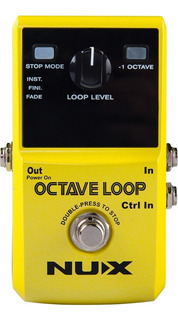 Pedal Octavador Nux - Octave Loop + Looper 24 Bit - Oddity