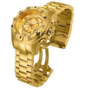 Relógio Invicta Reserve Excursion 6471 Gold Original 12x S/j