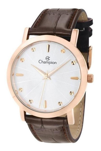 Relógio Feminino Champion Rosê Marrom Preto Cn20622z