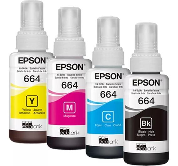 Epson T664 Kit Tintas 664 L395 L380 L375 L220 L455