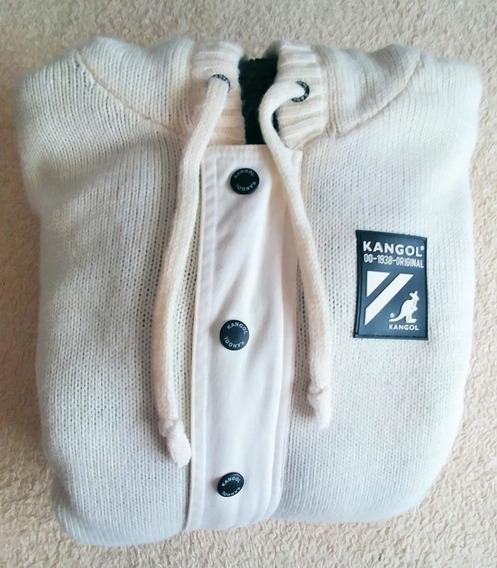 Sweater Pullover Campera Blanco Con Corderito Canguro Oferta