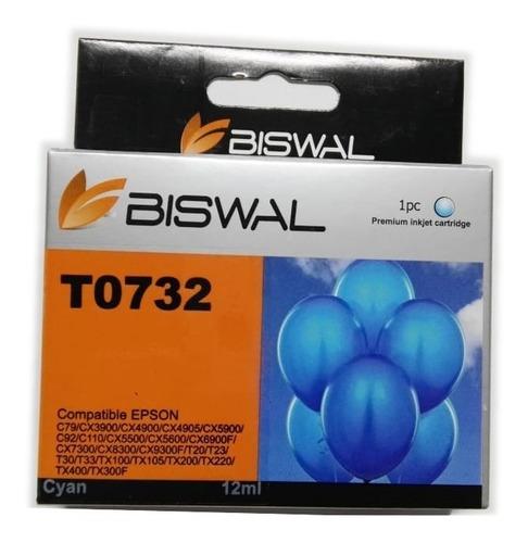 Tinta Generica Compatible T0732 C79 Cx3900 Tx200 Cian