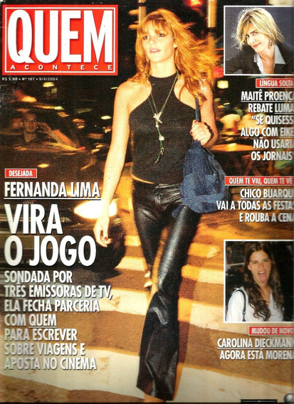Revista Quem 187/04 - Ana Carolina/sandy E Jr/maite/kurt