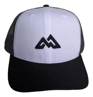 Boné Mountain Wear Preto E Branco / M012