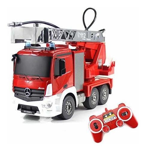 Imagen 1 de 7 de Fisca Rc Camión Control Remoto Motor De Bomberos Camión 9 C