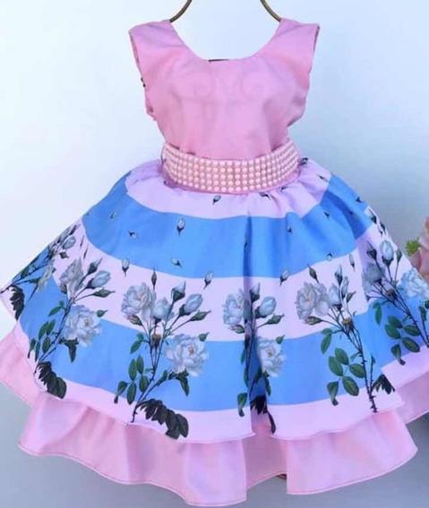 Vestido De Festa Infantil Luxo Batizado Aniversario Princesa