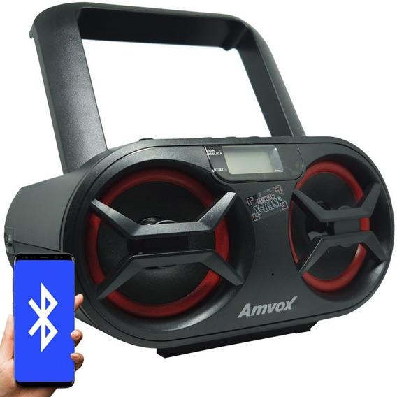 Som Portátil Boombox Bluetooth Cd Mp3 Player Usb Sd Fm Rádio