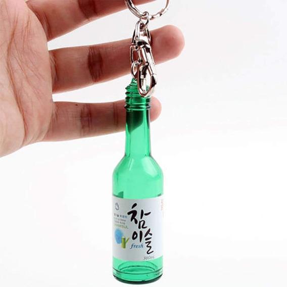 Botella Coreano Soju Llavero Llavero