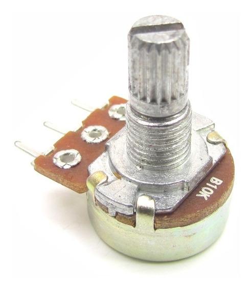 Kit 5 Potenciometro Linear 10k Mini Eixo Curto 15mm Arduino
