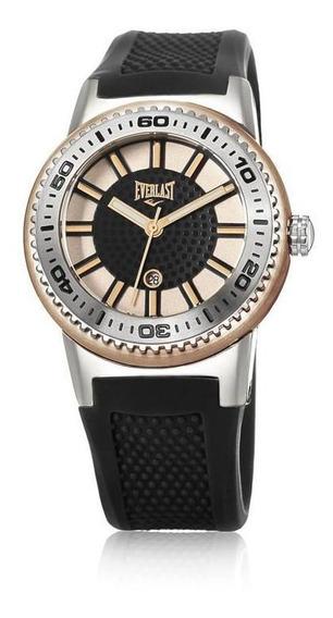 Relógio Pulso Everlast Pulseira Silicone Feminino E455