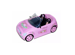 Auto Princesa Con Sticker Para Muñeca Barbie Lelab 7228