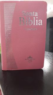 Santa Biblia Color Rosa Cristiana Reinavalera 1960 Economica
