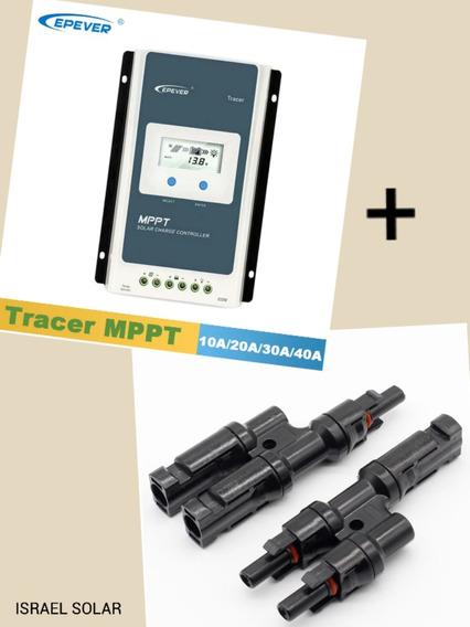 Tracer 30a Mppt 12 / 24 Brinde 1 Par De Conector Mc4 Tipo Y