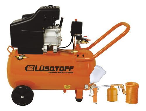Compresor de aire eléctrico portátil Lusqtoff LC-2550BK monofásico 220V 50Hz