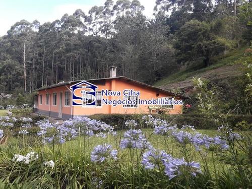 Belíssima Chácara (casa Principal + 03 Chalés) Na Serra Da Mantiqueira - Ch7001