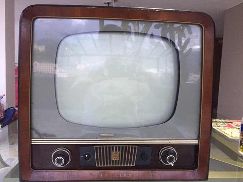 Imagen 1 de 10 de Televisor  Philips  14   Blanco Y Negro   Antiguedad