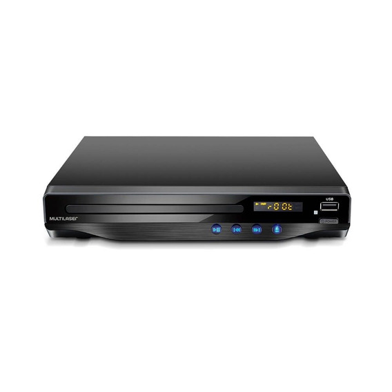 Dvd Multilaser Hdmi Player 5.1 Canais Karaokê Usb Preto Sp19