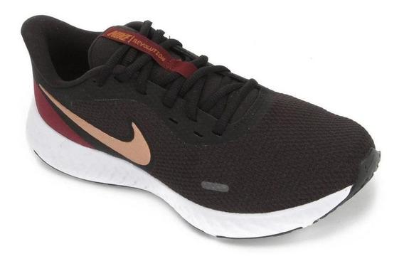 Tenis Nike Revolution 5 Preto/dourado