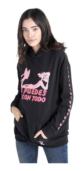 Sudadera De La Pantera Rosa De Mujer C&a (mod 1060907)