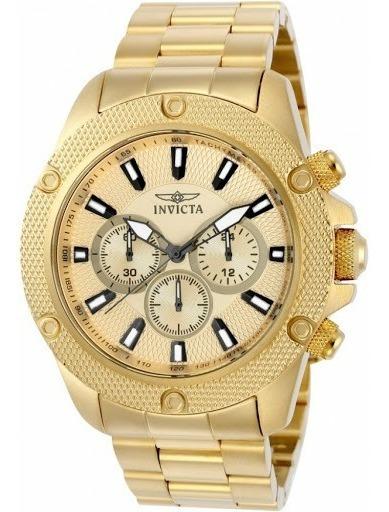 Relógio Invicta Pro Diver Plaque Ouro 22720 Selo Ipi