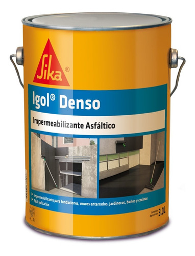 Imagen 1 de 6 de Igol Denso Impermeabilizante Asfáltico Negro 3 Lts