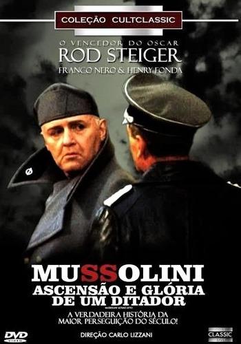 Dvd Mussolini Ascensão Glória De Um Ditador  Rod Steiger +