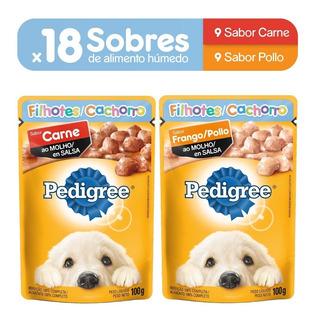 Alimento Perro Pedigree Sobre Cachorro Carne(9un)+pollo(9un)