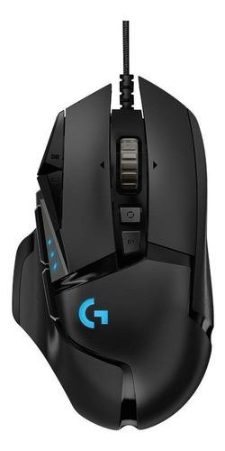 Imagen 1 de 4 de Mouse de juego Logitech  G Series Hero G502 negro