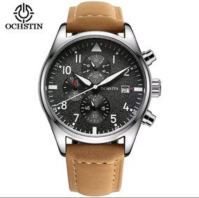 Relógio Ochstin Coffee Couro Impécavel Com Caixa Promoção