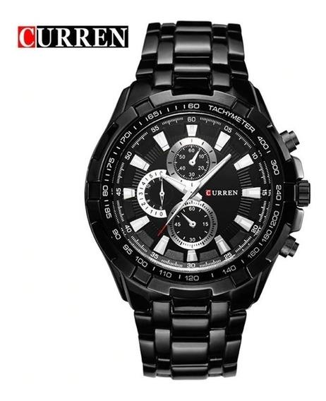 Relógio Masculino Militar Luxo Aço Inox Frete Grátis Barato
