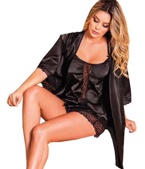 Kimono Mas Pijama De Short De Mujer. Levantadora Mas Pijama