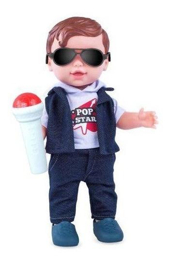 Boneco Vinil Babys Collection Pop Star Menino - Super Toys