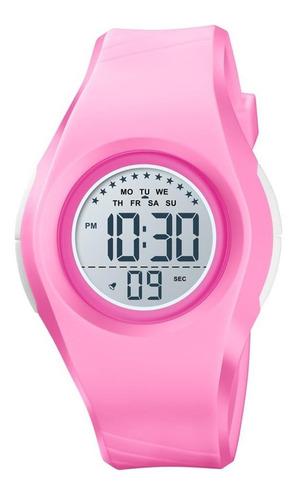 Relógio Infantil Menina Skmei Digital 1556 - Rosa