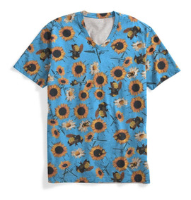 Camiseta Gola V Rap Trap Floral Tyler The Creator 3 Swag Mt