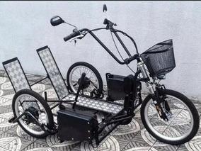 Triciclo Elétrico Para Cadeirante 700 W 36 V Bat 24ah Com Ré