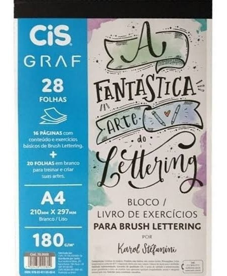 Bloco Para Brush Lettering Cis Graf A4