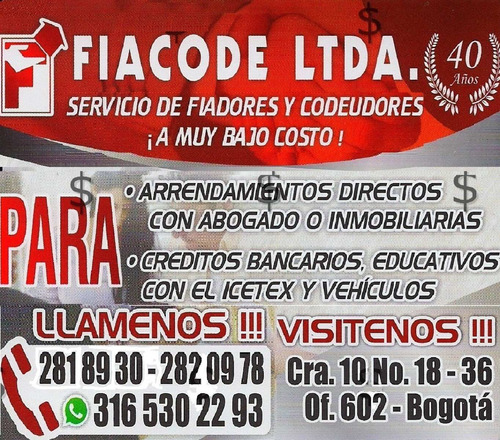 Fiadores Bogota Centro