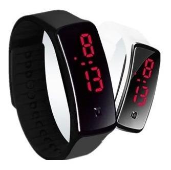 Relógio Digital Masculino E Feminino Pulseira De Silicone