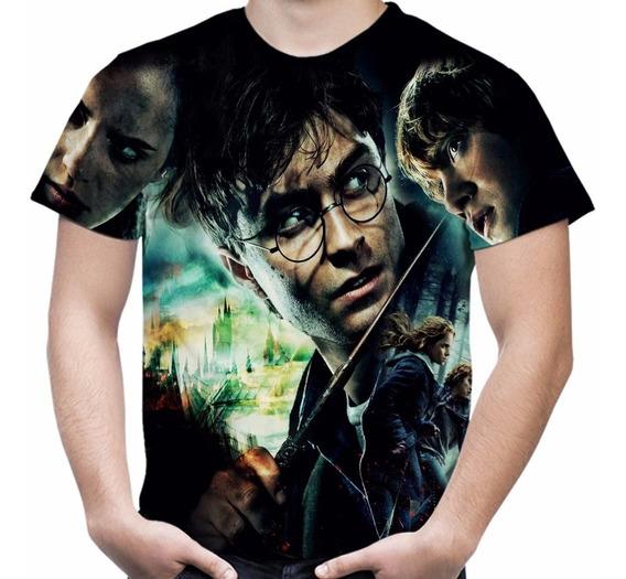 Camiseta Filme Harry Potter Camisa Masculina Total Print Md1