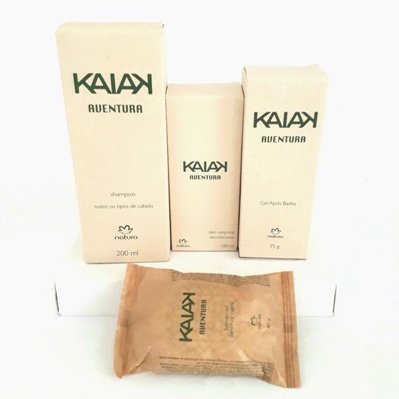 Kit Kaiak Aventura Natura 4 Produtos Deo Corporal + Shampoo