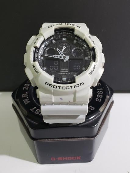 Relógio Casio G-shock Ga-100l 7a Serie Limitada Branco