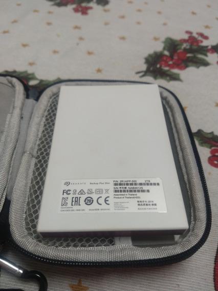 Hd Externo Portátil Seagate Backup Plus Slim 2tb - Vermelho