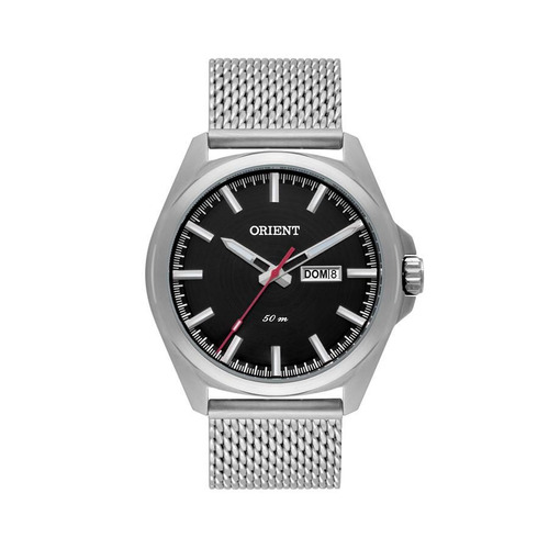 Imagem 1 de 1 de Relógio Orient Masculino Ref: Mbss2023 P1sx Casual Prateado