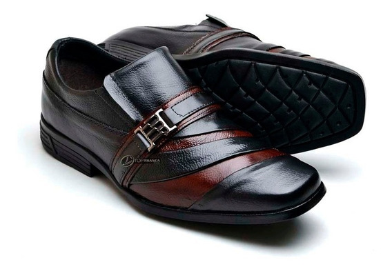 Sapato Executivo Tipo Democrata Couro Legitimo - Elpyshoes